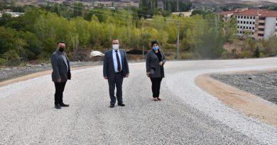 Atatürk Orman Çiftliği Çok Amaçlı Toplantı ve Düğün salonu yolu yapıldı