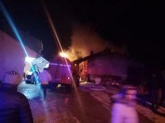 Meydan Mahallesi Orman sokakta yangın