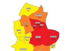 6-12 Mart haftasında illere göre 100 bin kişiye düşen COVID-19 vaka sayısı